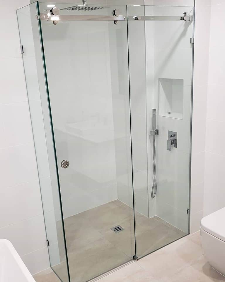 Manhatten Frameless Slider Shower Screen